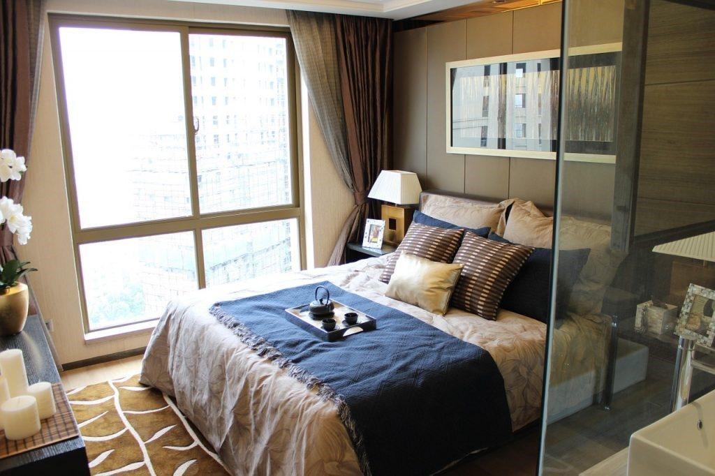Ciepła i komfortowa sypialnia
