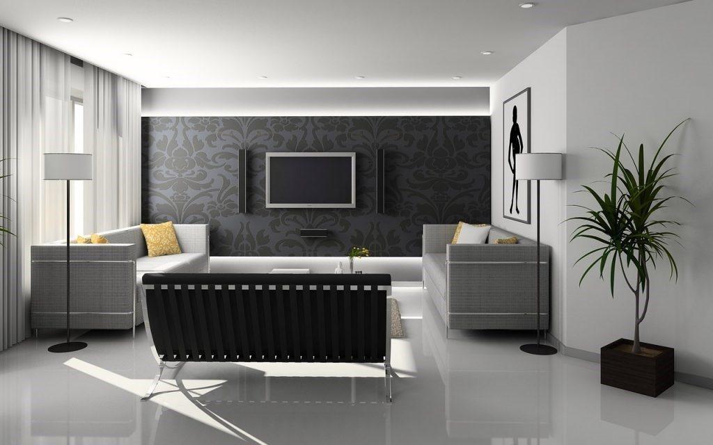Salon w klasycznych i nowoczesnych barwach